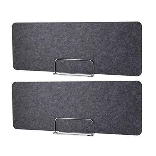 2PCS Tragbare Bürotrennwand, Nieschutzschilde, Sichtschutzverdickung, freistehender akustischer Schreibtischteiler, einfache Montage/grau / 40×80