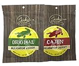 Jerky.com's Alligator Jerky Sampler - TESTER 2 PACK - Original Alligator Jerky and Spicy Cajun...