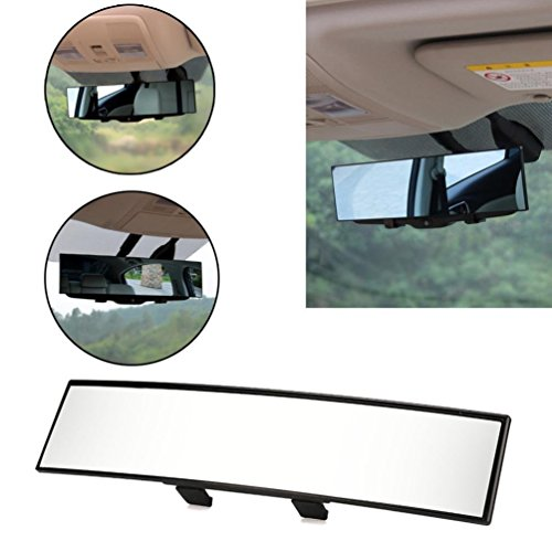Hunpta universel Grande Vision de voiture Proof Miroir Outlook Intérieur de voiture grand angle Rétroviseur intérieur, noir