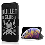 Bullet Club Wallet Case Credit Card Holder for iPhone X/XS, PU Leather Shockproof Kickstand Protective Cover Flip Cases