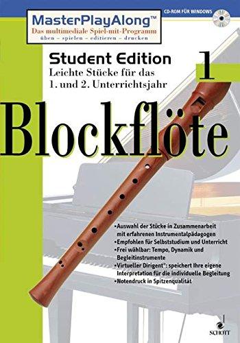 Blockflöte, 1 CD-ROMFür Windows 95/98. Leichte Stücke für d. 1. u. 2. Unterrichtsjahr