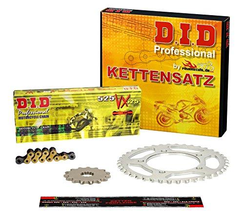 Kettensatz XL 700 V Transalp, 2008-2013, RD13, RD15, DID X-Ring extra verstärkt gold