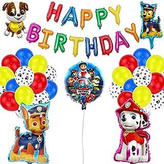 Brain Giggles Paw Patrol Theme Birthday Decoration Kit (46 Pieces) - Paw Patrol Party Supplies