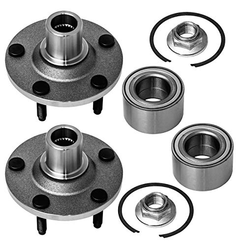 TUCAREST 518515 x2 (Pair) Front Wheel Bearing and Hub Assembly Compatible With...