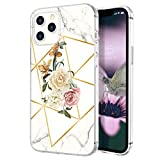 zelaxy Case Compatible wtih iPhone 12 Pro Max,Shockproof Protective Anti-Slip Slim Hard Shell Bumper Cute Floral Flower Case for iPhone 12 Pro Max 6.7 inch (Roses)
