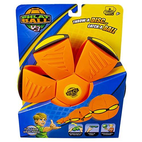 Phlat Ball V3 Solid Neon Orange/ Yellow Bumper