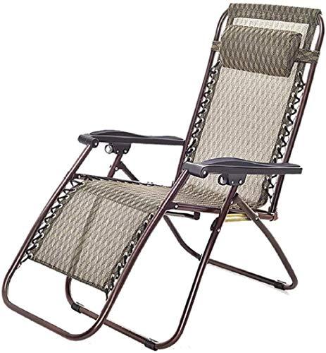 Tumbona de descanso al aire libre, silla reclinable ajustable plegable en textoline impermeable para patio, porche, piscina