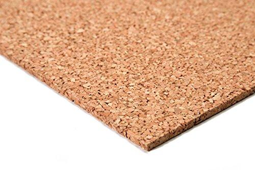 acerto 40333 Tablero de corcho de alta calidad 100 x 100 cm 6 mm * Elástico * Libre de sustancias nocivas * Antiestático | Adecuado como tablero de anuncios subsuelo para la fabricación