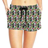 Women's Girl Strange Cactus and Tropical Flowers Fashion Sexy Hot Shorts Swimwear XXL
