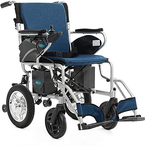 Rabbfay Ultra Leicht Elektrisch Rollstuhl, Wiegt Nur 28 kg, Leicht Falten Roller mit 2 Vorderseite und Rückseite Controller, zum Alten Behindert und Behindert,B