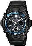 Casio G-SHOCK Reloj Analógico-Digital, Reloj radiocontrolado y solar, 20 BAR, Negro, para Hombre, AWG-M100A-1AER