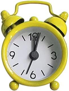 Fan-Ling 1PCS Alarm Clock,Creative Cute Mini Metal Small Alarm Clock Electronic Small Alarm Clock,Designed exquisitely, Durable (Yellow)