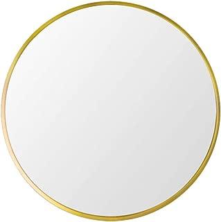 "Beauty4U Small Round Metal Frame Mirror, 15.7"" Wall-Mounted Mirror for Bedroom, Bathroom, Living Room, Entryway, Vanity Mirror, Gold"