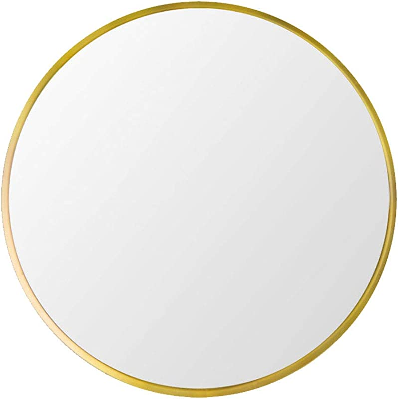 Beauty4U Small Circle Metal Frame Mirror 15 7 Wall Mounted Mirror For Bedroom Bathroom Living Room Entryway Vanity Mirror Gold