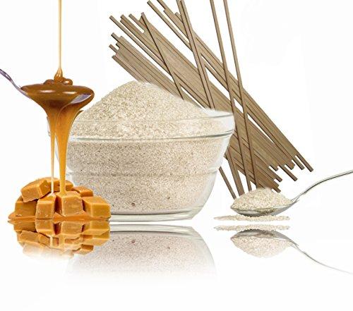 funfood4you 1kg hellbrauner Karamell Zuckerwattezucker Plus 50 Zuckerwattestäbchen für Zuckerwatte,Popcorn oder Süßspeisen …