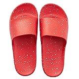 NYKK Sandali e Pantofole da Donna Scarpe da Bagno per Uomo Anziano, Pantofole da Pavimento Antiscivolo, Sandali per Interni ed Esterni (Nero e Rosso) Pantofole da Bagno (Color : Red, Size : 10-11#)