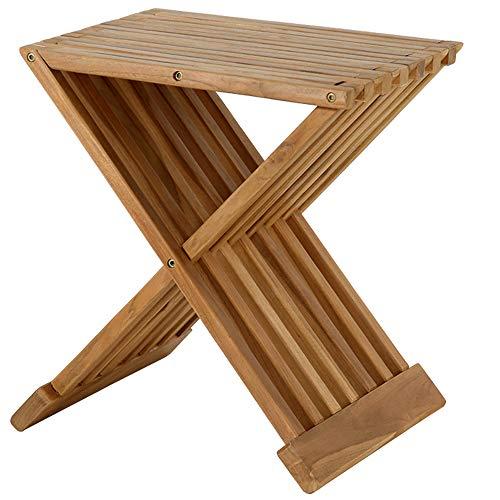 "Teak Shower Stool, Teak Shower Bench, 17"" Folding Shower Seat, Waterproof Bench, Stool - Bath, Sauna Seating, Spa Mantis Folding Teak Chair, Fully Assembled"