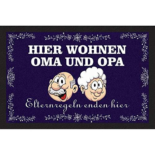 Fußmatte - Oma und Opa - Bodenmatte Schmutzfangmatte Hinweismatte 60cm x 40cm