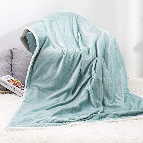 Yorbay Heizdecke 180 x 130 cm, Elektrische kuschelige Wärmedecke, mit Abschaltautomatik, Überhitzungsschutz und Timer, mit 3 Temperaturstufen, Waschbar, Minzgrün