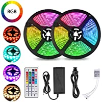 2-Pack Tomshine 32.8ft Waterproof LED Strip Lights with Remote Control