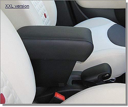 Drive Design Bracciolo Fiat 500L 2012-2017 Ecopelle Nero Cuciture Nere Regolabile in Lunghezza portaoggetti XXLmrest mittelarmlehne