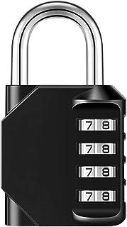 BBZZ Serrure de Code à 4 Chiffres, imperméable et antirouille, utilisé pour Les casiers de Gymnastique Scolaire, valises, ...