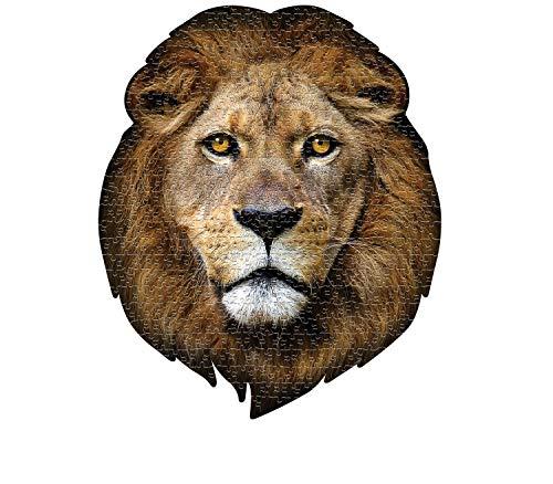 MADD 3001-IAMLION CAPP 883001 Shape Puzzle Löwe, Konturpuzzle 550 Teile, für Kinder und Erwachsene, Mehrfarbig