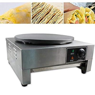 "16"" Commercial Electric Crepe Machine Electric Pancake Crepe Pan Maker Single Hotplate Non Stick 3KW 110V for Restaurants Snack Bars Cafés"