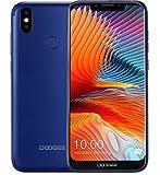 DOOGEE BL5500 LITE - Smartphone Libero Android 8.1 (LTE 4G) - ultrasottile con batteria da 5500 mAh, schermo U-notch da 6,19 pollici (rapporto a visualizzazione completa 19: 9), Blu