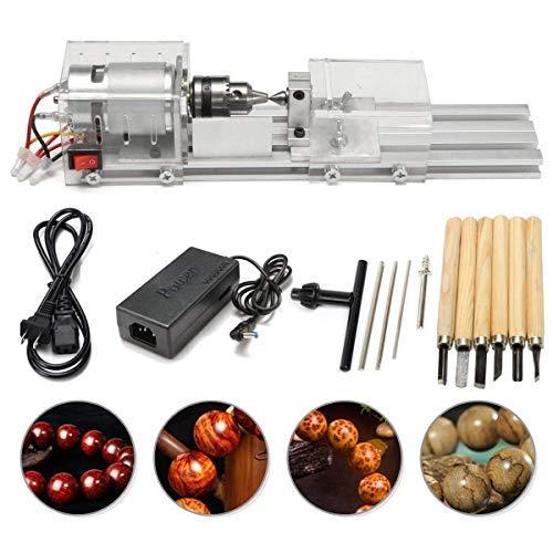InLoveArts Mini draaimachine kralen polijstmachine CNC bewerking voor tafel houtbewerking hout DIY gereedschap draaimachine DIY houtbewerking handwerk draaigereedschap