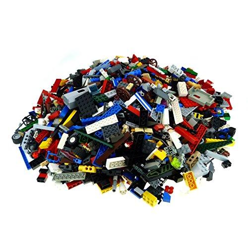 3 Kg Lego Steine ca. 2100 Teile bunt gemischt z.B. Basic und Sondersteine