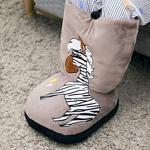 AMFHYInverno scaldapiedi Elettrico Scarpe Riscaldamento Scarpe scaldino per Piedi Pantofole riscaldate Cuscino del Divano Caldo per Portafogli casa UfficioMarrone