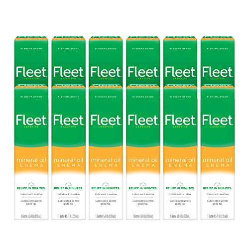 Fleet Laxative Mineral Oil Enema for Constipation, 4.5 fl oz, 1 Bottle, 12 Pack