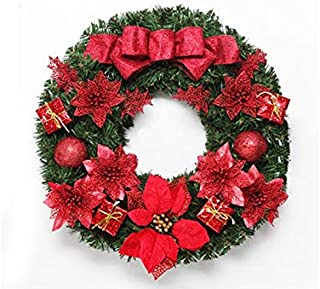 Pengcher Safflower Flower Christmas Garland Door Hanging Ornaments Room Christmas Tree Pendants for Decoration