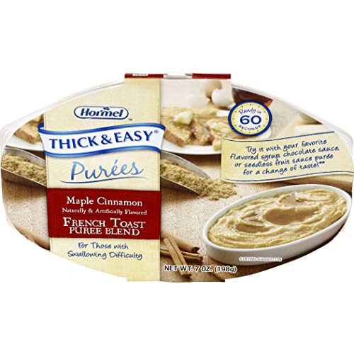 Hormel Health Lab THICK & EASY Purees Maple Cinnamon French Toast, 7 count, 7 oz ea (1 case)