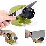 Cuchillo eléctrico Sacapuntas, funciona con pilas Molino, ideal para cuchillos cuchillo de piedra, moteros, tijeras, Cleavers, herramientas de precisión, etc. (4* AA pilas no incluidas)
