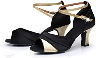 Women Latin Ballroom Tango Dance Shoes Peep Toe Wedding Sandals