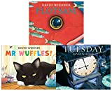 David Wiesner Series 3 Books Collection Set (Tuesday, Mr Wuffles, Flotsam)