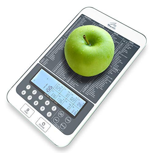 Mackie Food Scale, Digital Kitchen Scale Nutrition Portions Easy Automatic Calorie and Macro Nutrition Calculator an American Co.…