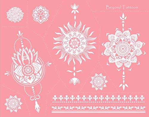 Mes06 Mes06 Mandala-tattoo-sjablonen voor lichaamsbeschildering, eenvoudig en herbruikbaar
