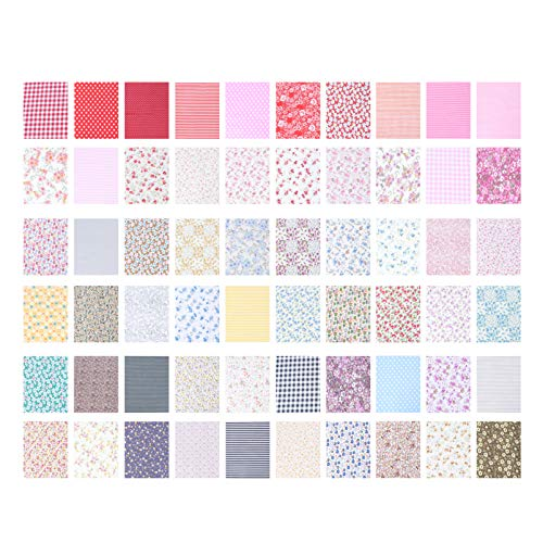 Cotton Fabric Craft Squares Quilting Sewing Floral Precut Fabric Sheets for Patchwork