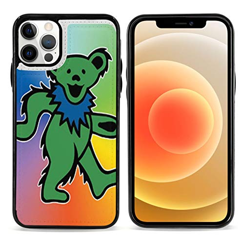 Hip Hop Grate-ful Dead Skull Dancing Bear Phone Case for iPhone 12/12 Pro/12 Pro Max /12 Mini Soft TPU Leather Anti-Scratch Protective Cover