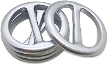 6 Stuks Gesp Stijl Zilver Toon Vrouwen Sjaal DIY Ring, Bruiloft Lint Gesp Slider Decoraties-Silver