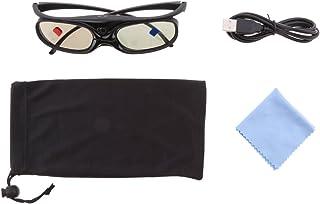 Sharplace Gafas 3D para Proyectores DLP-Link Obturador Activo Acer/BenQ/Optoma Negro