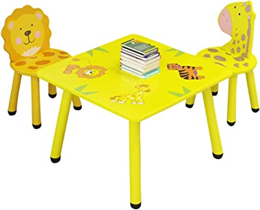 VEKI Children Animal Cartoon Study Desk and Chair Set, Game Desk for Kids, Children Cartoon Game Table,Children's Cartoon