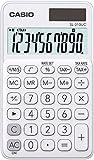 CASIO SL-310UC-WE - Calculadora, 0.8 x 7 x 11.8 cm, color blanco