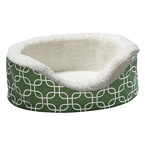 Orthoperdic Egg-Crate Nesting Pet Bed w/ Teflon Fabric Protector, XS Green
