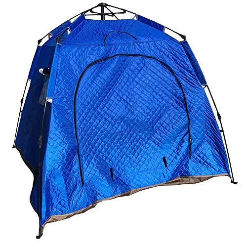 QQW Tenda Invernale Doppia Tenda da Esterno Vento Caldo Pesca Sul Ghiaccio Tenda da Pesca Sul Ghiaccio Aumento Delle Tende in Cotone Spesso per Brevi Fine Settimana in Famiglia,Blu,200X200X160Cm