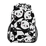 XMCL Cute Animal Chinese Panda Durable Backpack College School Book Shoulder Bag Travel Daypack for Boys Girls Man Woman