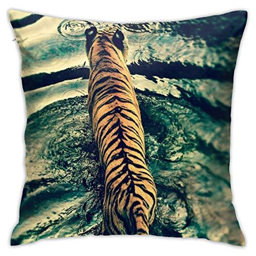 Affordable shop Funda de cojín decorativa para el hogar, diseño de tigre de Disney, para sofá, cama, coche, 45,72 x 45,72 cm